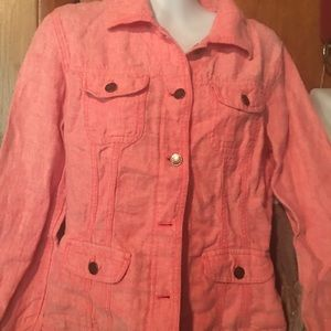 J.Jill linen jacket size xsmall coral color